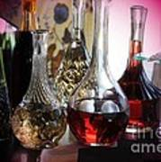 Glass Decanters And Glasses Poster