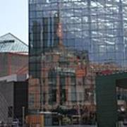 Glass Facade Reflection - Aquarium Baltimore Poster