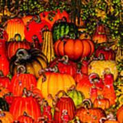 Glass Pumpkins Poster