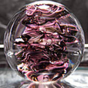Glass Sculpture Black And Pink Rbp Poster