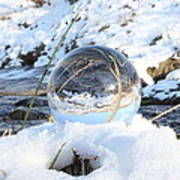Glass Sphere Snow Landscape Poster