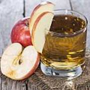 Glass With Apple Juice Poster