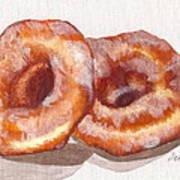 Glazed Donuts Poster by Debi Starr