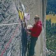 T-306607-glen Denny With Me On El Cap First Ascent 1962 Poster