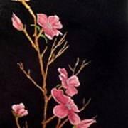 Glistening Blossoms Poster