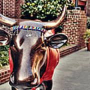 Glitter Bull Poster by Emily Kay