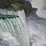 Gloomy Day At Niagara Falls Poster