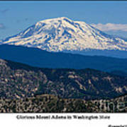 Glorious Mount Adams Poster