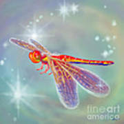 Glowing Dragonfly Poster