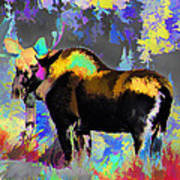 Electric Moose Poster