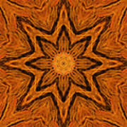 Glowing Pine Flower Mandala Poster