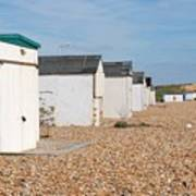 Glyne Gap Beach Huts In Sussex Poster