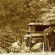 Gm Truck  Sepia Poster