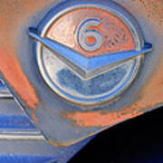 Gmc 4000 V6 Pickup Truck Emblem Poster