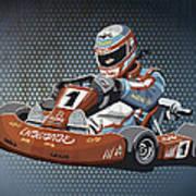 Go-kart Racing Grunge Color Poster by Frank Ramspott
