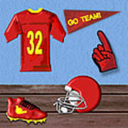 Go Team Tribute To Football Poster