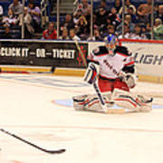 Goalie Protects Poster