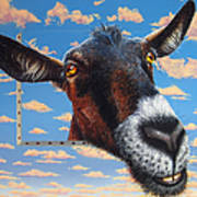 Goat A La Magritte Poster