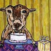 Goat At The Birthday Party Poster by Jay  Schmetz