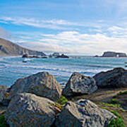 Goat Rock State Beach Near Russian River Outlet Near Jenner-ca Poster