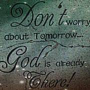 God Spiritual Art - Inspirational Message Typography Poster