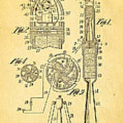 Goddard Rocket Apparatus Patent Art 1914 Poster