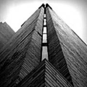 Goddard Stair Tower - Black And White Poster