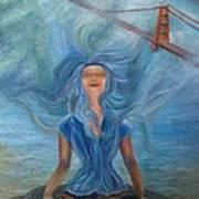 Goddess Of Golden Gate Brigde Poster