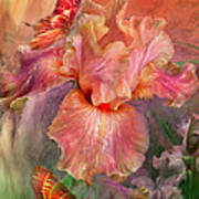 Goddess Of Spring Poster by Carol Cavalaris