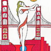 Goddess Of The Golden Gate Poster by Michael Friend