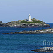 Photographs Of Cornwall Godrevy Lighthouse Poster