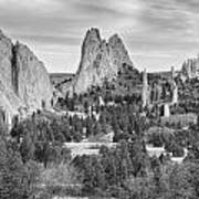 Gods Colorado Garden In Black And White    Poster