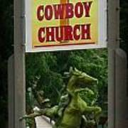Gods Country Cowboy Church Poster