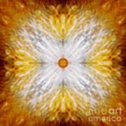 Gold And White Light Mandala Poster