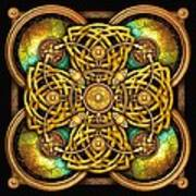 Gold Celtic Cross Poster