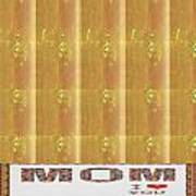 Gold Embossed Foil Art For Mom Digital Graphic Signature   Art  Navinjoshi  Artist Created Images Te Poster