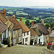 Gold Hill Shaftesbury Uk 1980s Poster
