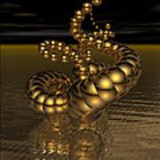 Gold Serpentine  Poster