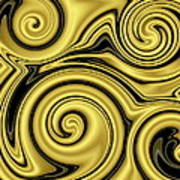 Gold Swirl Poster