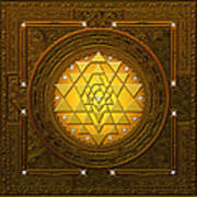 Golden-briliant Sri Yantra Poster
