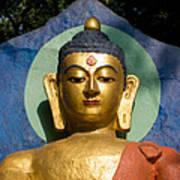 Golden Buddha Poster by Nila Newsom