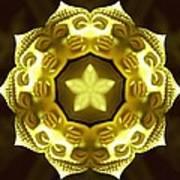 Golden Buddha Star Poster