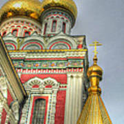 Golden Domes Of Russian Church Poster