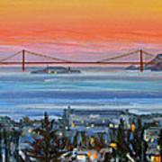 Golden Gate At Twilight Poster