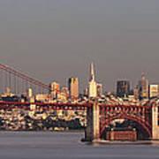 Golden Gate Bridge And San Francisco Panoramic Poster
