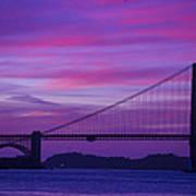 Golden Gate Bridge At Twilight Poster