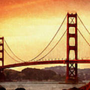 Golden Gate Bridge San Francisco California Poster