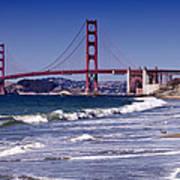 Golden Gate Bridge - Seen From Baker Beach Poster