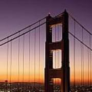 Golden Gate Bridge Sunrise From Marin Poster