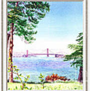 Golden Gate Bridge View Window Poster